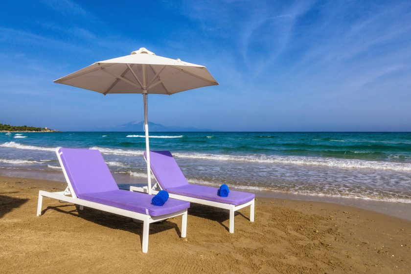 iakinthos - tsilivi beach-front hotel - der strand